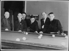 Great composers playing billiards