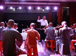 Changing times: Buddhist monks play Bach in China