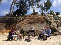 LA's surfing oboist is remembered on his beach