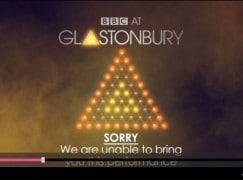 Glastonbury stopped by lightning