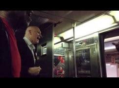 Passenger video: A New York subway conductor turns into chorus master