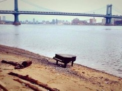 New York's washed up piano has become a video star