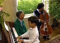 Yo Yo and son, Nicholas, play first media duet