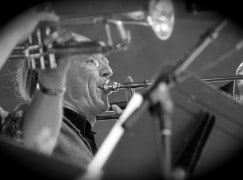 'It's like driving a car through rush hour': London trombonist has died