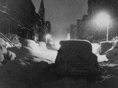 Record snowfall on West 22nd Street.  (P