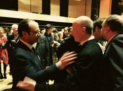 Conductor awaits kiss from French President