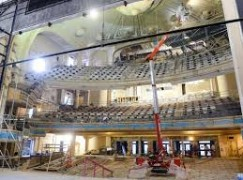 Ten years on, orchestra reclaims flooded hall