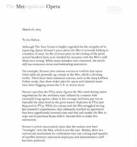 peter gelb letter