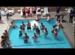 Here's what happens when you let a high school choir into the hotel pool