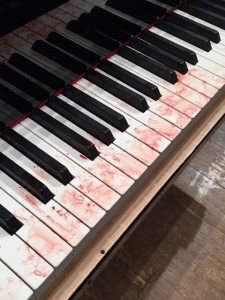 bloodstained piano