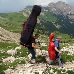 musicians in mountains
