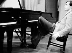 Glenn Gould's piano stool in a state of disrepair