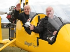 Much recorded UK conductor turns 90 – in a 'copter