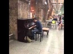 How to win fame on a railway station piano