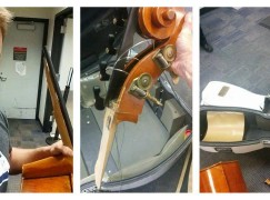 Smashed double-bass furore: airline responds