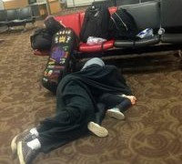 Soloist sleeps on airport floor after US Airways refuses her violin