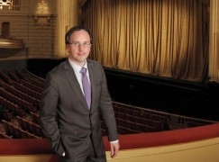 In this Sept. 9, 2015 photo released by The San Francisco Opera, new General Director Designate Matthew Shilvock at the War Memorial Opera House in San Francisco. Shilvock will succeed David Gockley as general director of the San Francisco Opera on Aug. 1, 2016, after serving as associate general director since 2010. (Cory Weaver/San Francisco Opera via AP)
