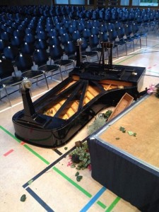 collapsed piano
