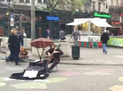 In the tense centre of Brussels, a cellist plays Hallelujah