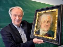 Dieses Bild eines unbekannten Malers hat der Dortmunder Unternehmer Wolf-Dietrich Köster 2014 auf einer Auktion ersteigert. Jetzt untersuchen es Kunsthistoriker auf die Echtheit hin - ist das ein Porträt von Johann Sebastian Bach oder sieht es nur so aus?