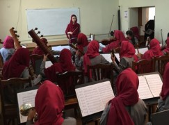 Afghanistan yields a woman conductor