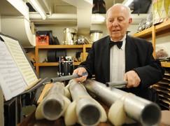 Richard Horowitz, Metropolitan Opera's tympanist and percussionist  ---   {Tuesday in Manhattan 5-5-09}   Original Filename: DSC_0204x.JPG