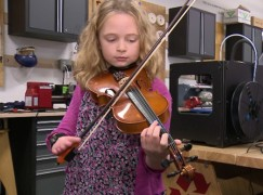 Tech miracle: Girl born with half a hand is enabled to play the viola