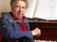 Henri Dutilleux - portrait of French composer in his studio, Paris, October 2003. b. 22 January 1916 -