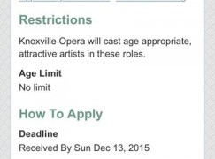 knoxville opera auditions