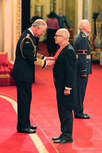Christopher (Max) Hole is made a Commander of the Order of the British Empire (CBE) by the Prince of Wales during an Investiture ceremony at Buckingham Palace, London.