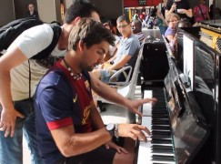 You know when you're improvising at the station piano and some other guy butts in…
