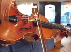 tuning up violin