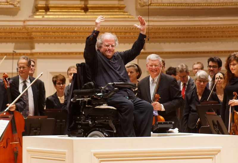 james levine wheelchair