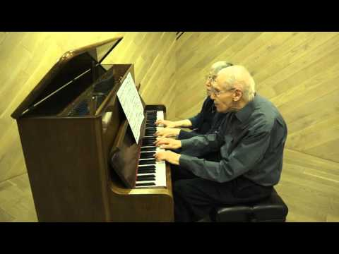 Magic as 90 year-old couple play 4-hand Bach
