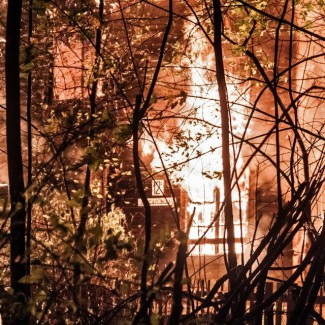 Music school burns down in Moscow