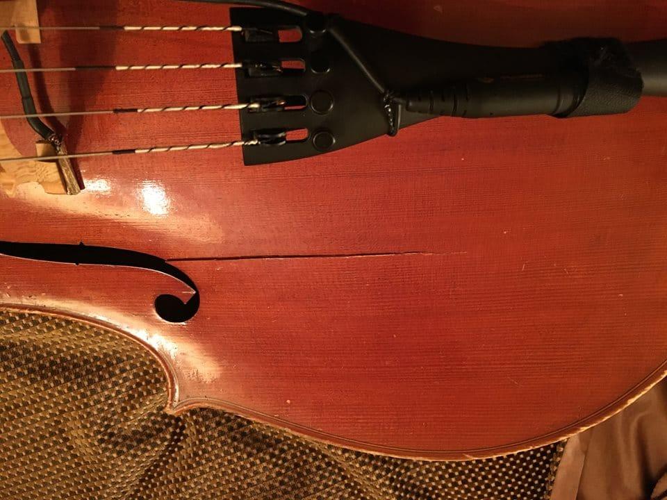 smashed cello