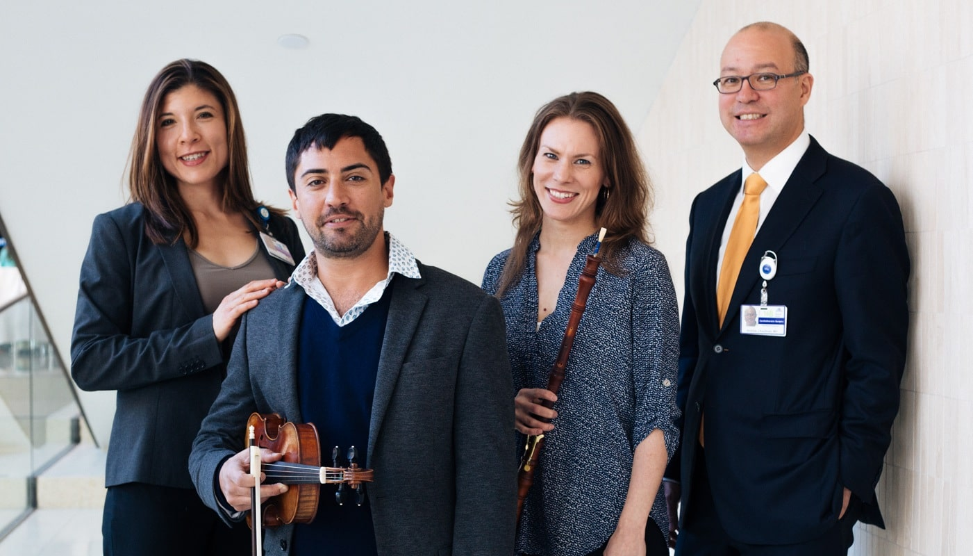 Two musician patients start free hospital concerts