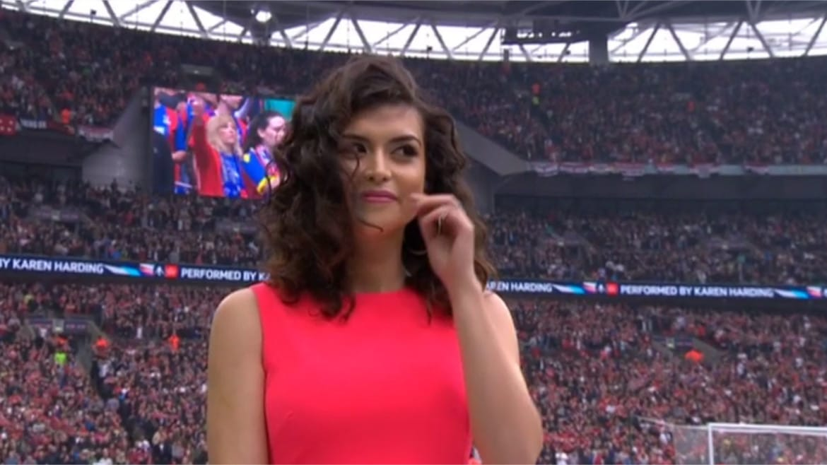 The singer who missed the National Anthem