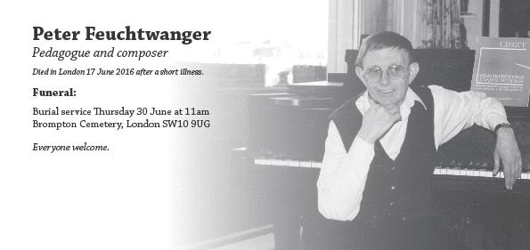 Funeral of Peter Feuchtwanger