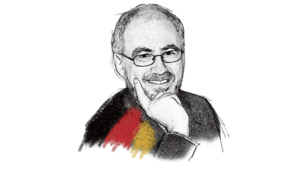 An English writer tells the Germans, what is German