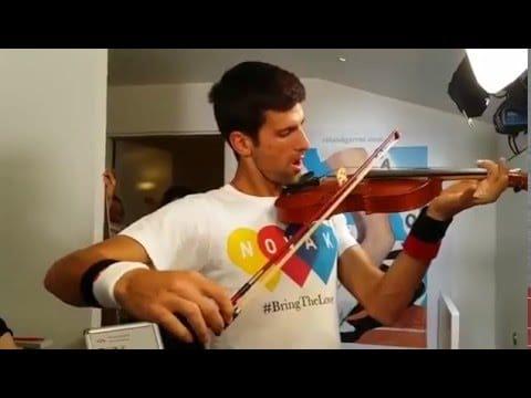 What Novak Djokovic thinks of the violin