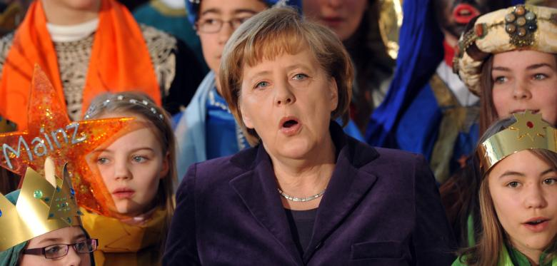Angela Merkel urges families to make music together this Christmas