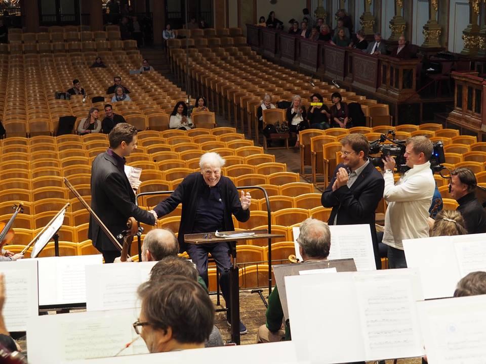 Maestro, 92, is back at work in Vienna