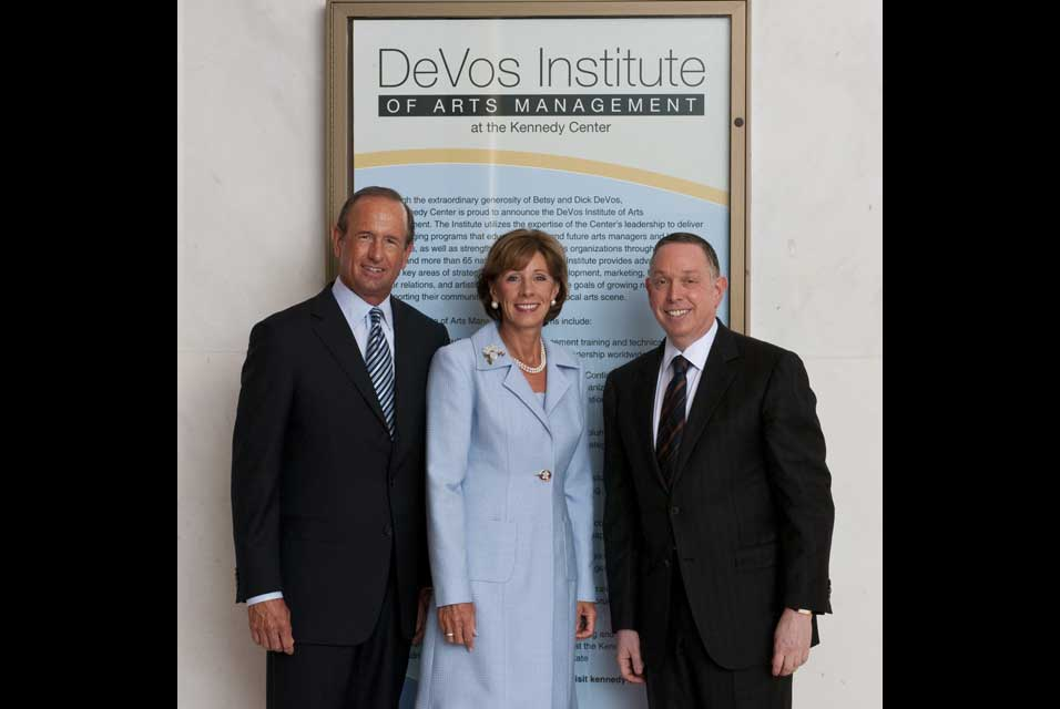 betsy-devos-and-kennedy-center-president-michael-m-kaiser-pose-for-a-photograph