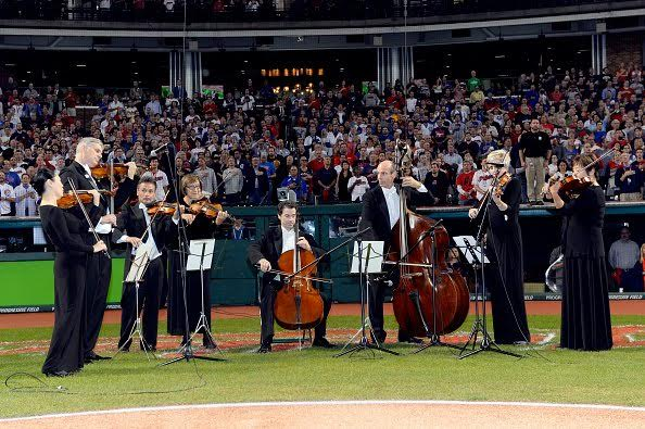 At the World Series, Cleveland won the music