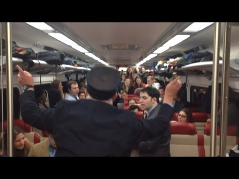Watch: Yale Singers follow a conductor … a train conductor