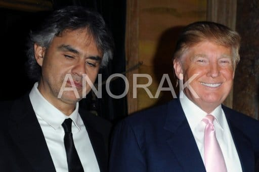 Andrea Bocelli sings for the taxman