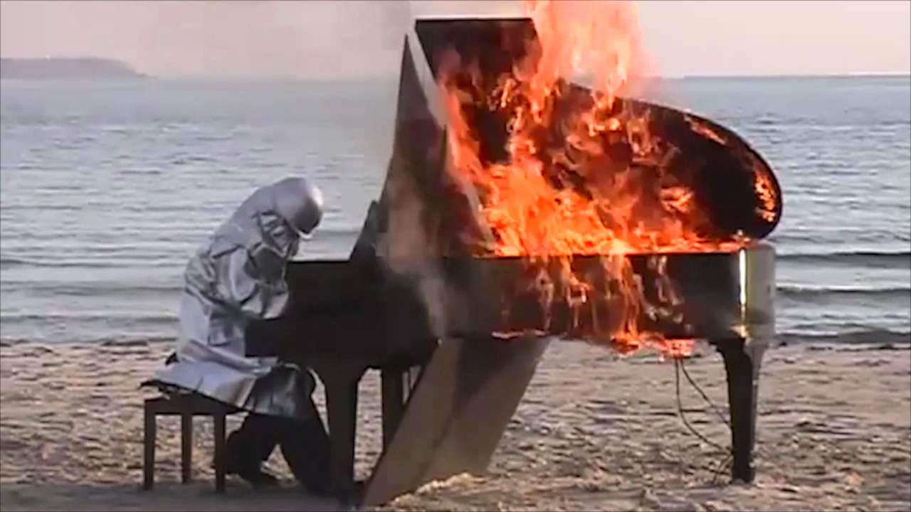 How long can you play a burning piano?
