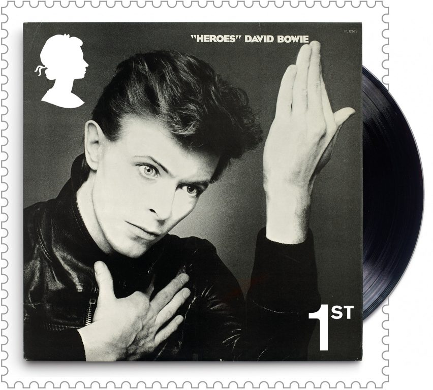 The David Bowie stamps are on sale
