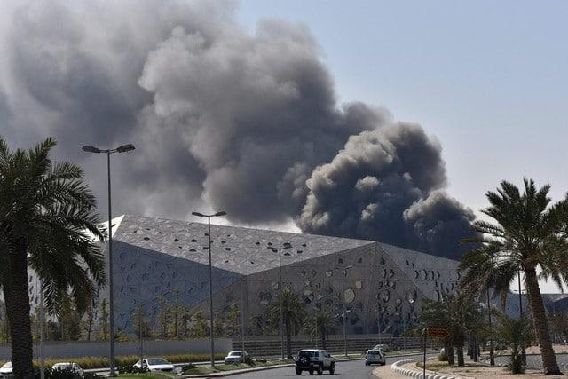 Kuwait Opera House is on fire